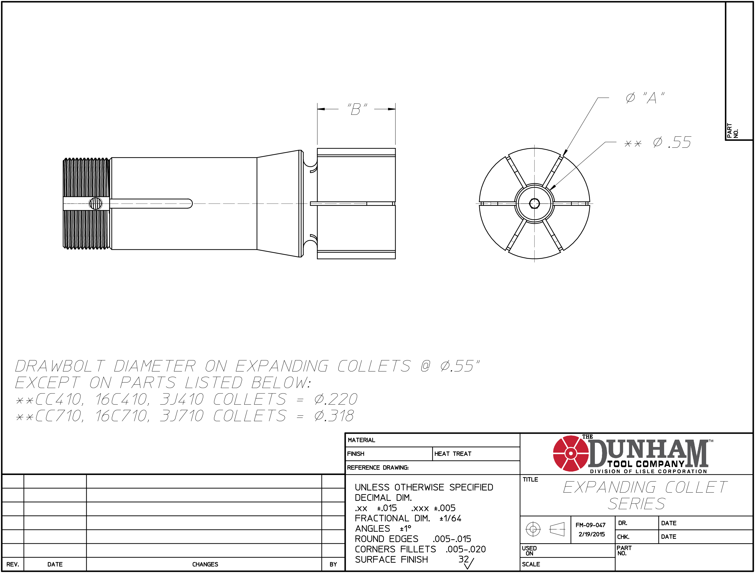 Construction Diagram for 5C Expanding Collet